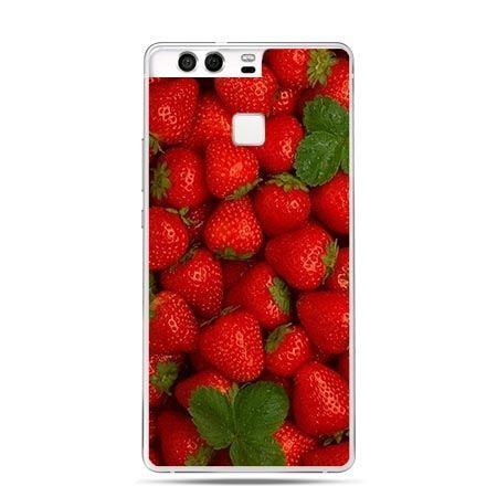 Etui na telefon Huawei P9 czerwone truskawki