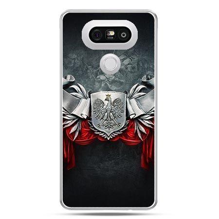 Etui na telefon LG G5 patriotyczne - stalowe godło