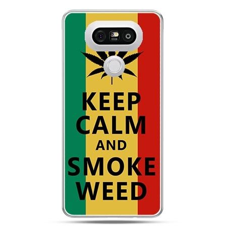 Etui na telefon LG G5 Keep Calm and Smoke Weed