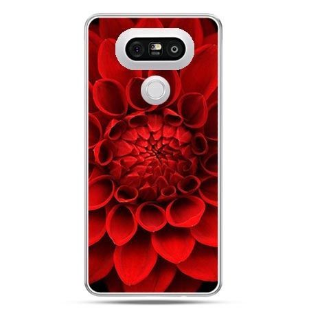 Etui na telefon LG G5 czerwona dalia