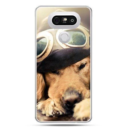 Etui na telefon LG G5 pies w okularach