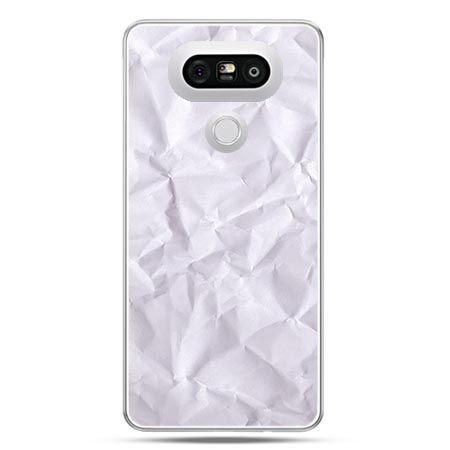 Etui na telefon LG G5 pomięty papier