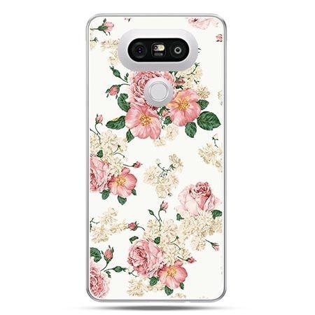 Etui na telefon LG G5 polne kwiaty