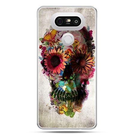 Etui na telefon LG G5 czaszka z kwiatami
