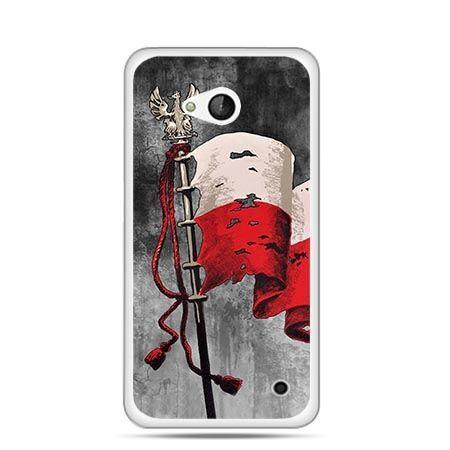 Etui na telefon Lumia 550 patriotyczne - flaga Polski