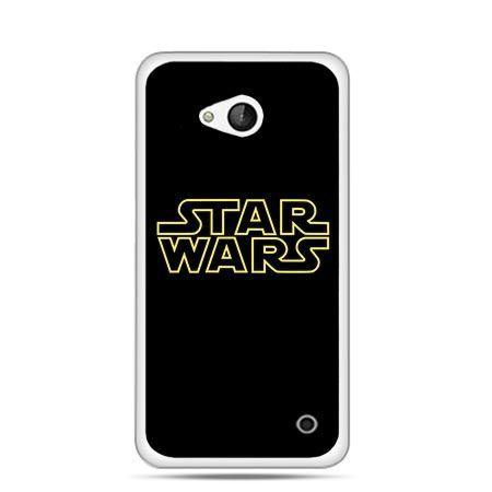 Etui na telefon Nokia Lumia 550 Star Wars złoty napis