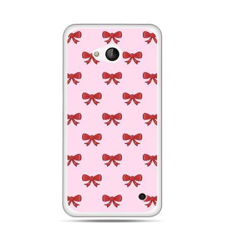 Etui na telefon Nokia Lumia 550 czerwone kokardki