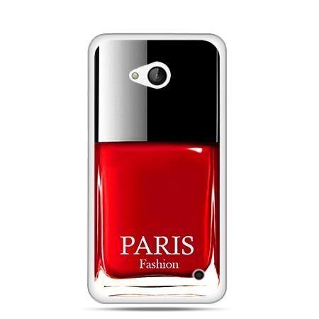 Etui na telefon Nokia Lumia 550 lakier do paznokci czerwony