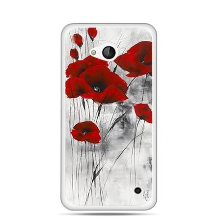 Etui na telefon Nokia Lumia 550 czewrwone maki