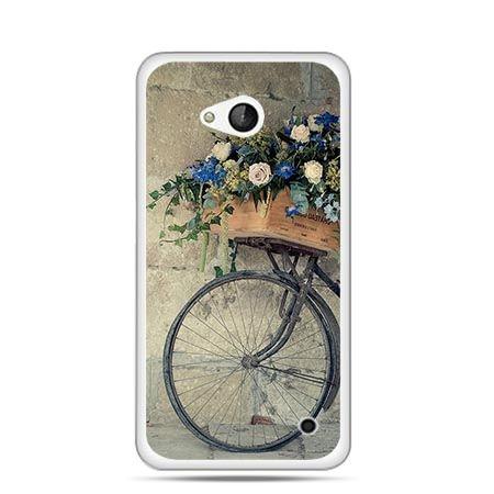 Etui na telefon Nokia Lumia 550 rower z kwiatami