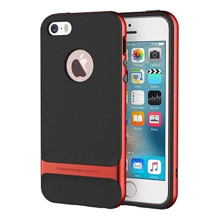 Etui na telefon iPhone 5 / 5S  Rock Royce - czerwony.