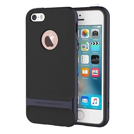 Etui na telefon iPhone 5 / 5S Rock Royce - grafitowe.