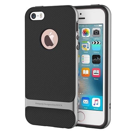 Etui na telefon iPhone 5 / 5S Rock Royce - srebrne.