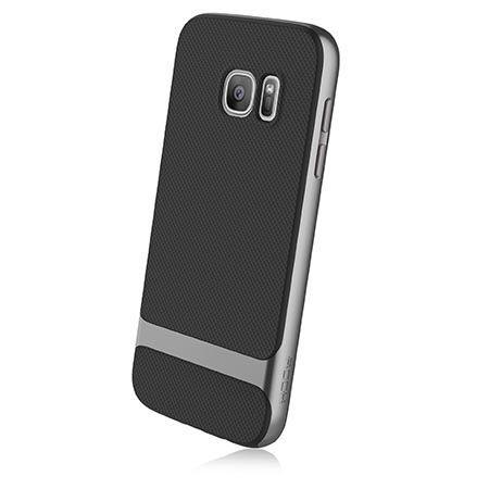 Etui na telefon Galaxy S7 Rock Royce - srebrne.