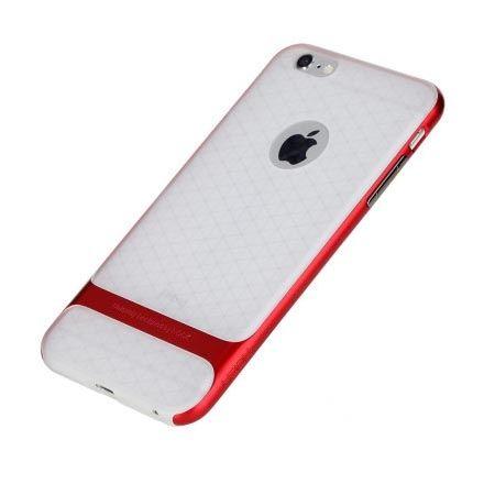 Etui na telefon iPhone 6 / 6s Rock Royce Clear - czerwony.