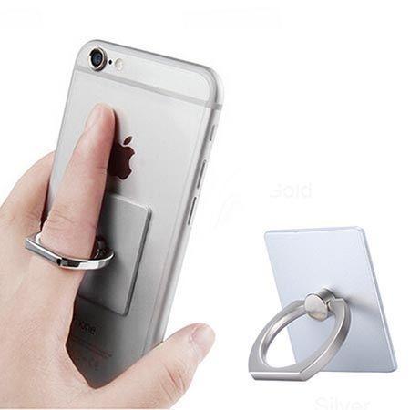 Uniwerslany uchwyt do telefonu ORing na palec - srebrny.
