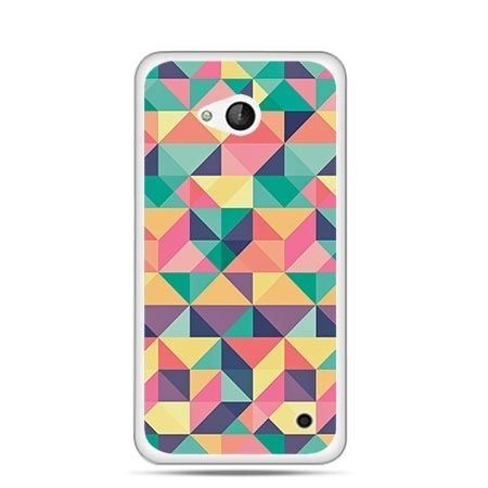 Etui na telefon Nokia Lumia 550 kolorowe trójkąty