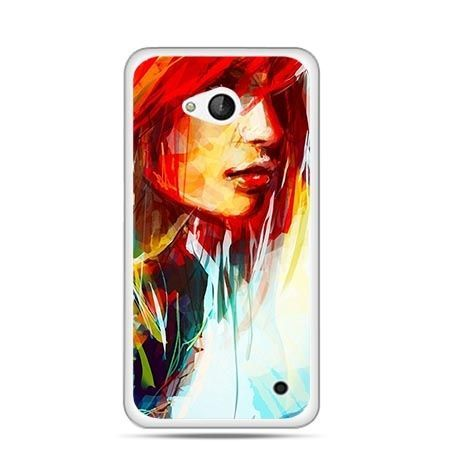Etui na telefon Nokia Lumia 550 kobieta akwarela