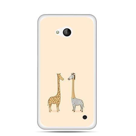 Etui na telefon Nokia Lumia 550 żyrafy