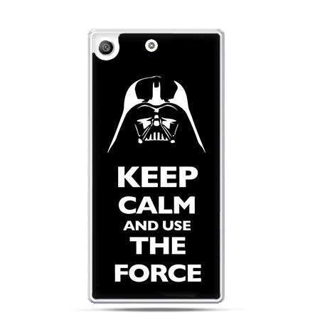 Etui na telefon Xperia M5 Keep calm and use the force