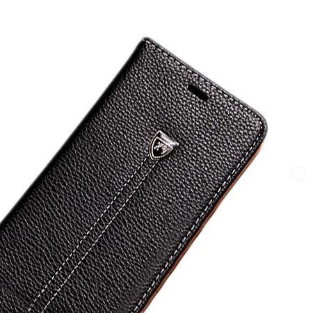 Etui na LG K8 portfel z klapką na karty kredytowe - czarne.
