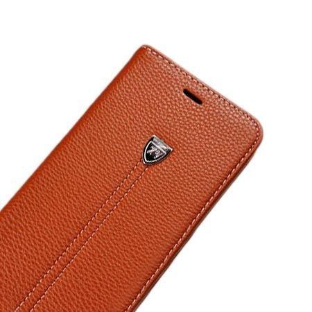 Etui na LG K8 portfel z klapką na karty kredytowe - brązowe.