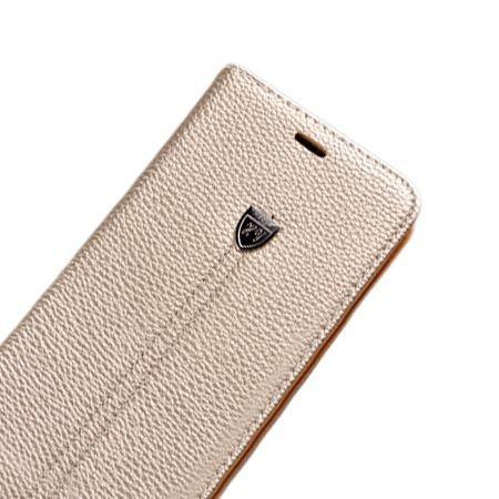 Etui na LG K8 portfel z klapką na karty kredytowe - złote.