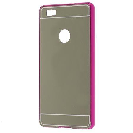 Huawei P8 Lite Mirror bumper case - Różowo - srebrny.