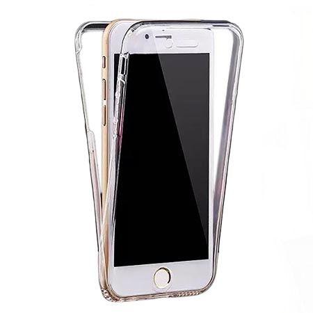 Etui na iPhone 6 / 6s silikonowe 360 Full przód i tył - przezroczyste
