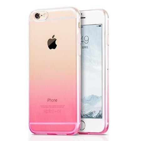 Etui na iPhone 6  6s silikonowe gradient - różowe.