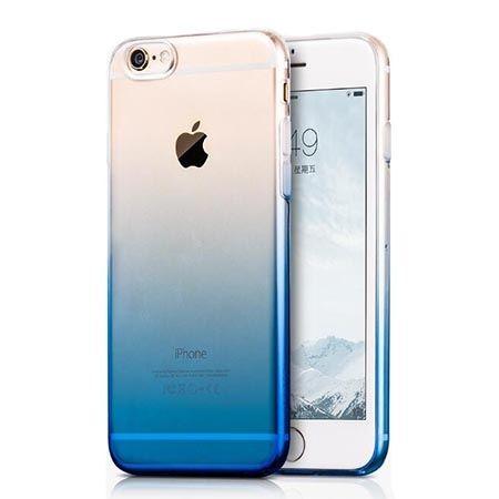 Etui na iPhone 6 6s silikonowe gradient - niebieskie.