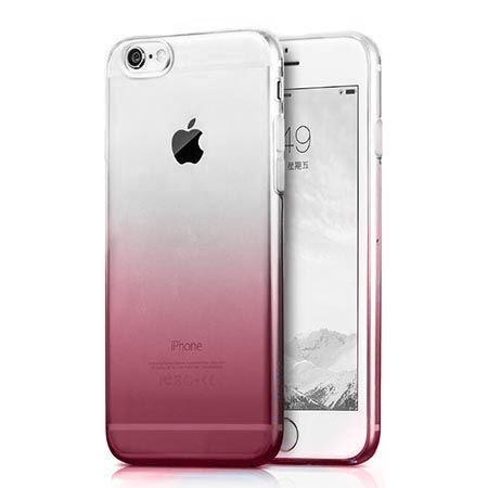 Etui na iPhone 6 6s silikonowe gradient - fioletowe.