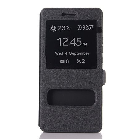 Etui na Huawei P9 Lite  Flip Quick View z klapką dwa okienka - Czarny.