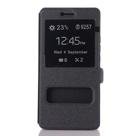 Huawei P9 Lite etui Flip Quick View z klapką dwa okienka - czarne.