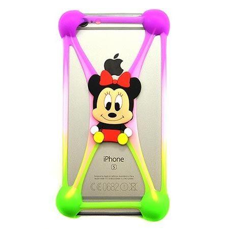 Gumowe etui na telefon z kolorową postacią - myszka.
