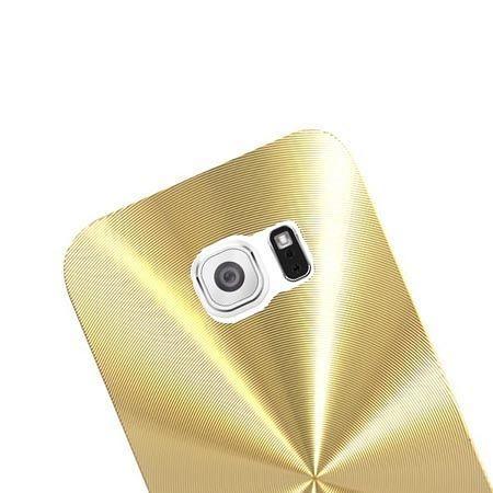 Samsung Galaxy S6 Edge plecki aluminiowe efekt cd - złote. PROMOCJA !!!