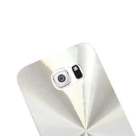 Samsung Galaxy S6 Edge plecki aluminiowe efekt cd - srebrne.