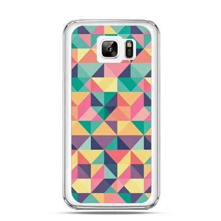 Etui na Samsung Galaxy Note 7 kolorowe trójkąty