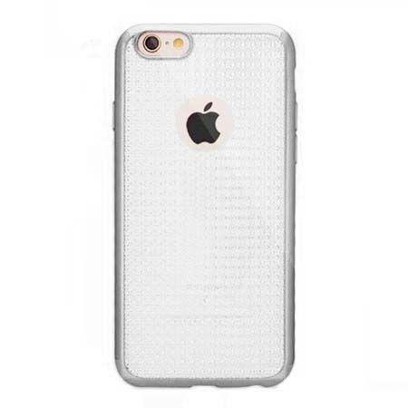Etui na iPhone 6 / 6s silikonowe platynowane Blink - srebrne. PROMOCJA!!!