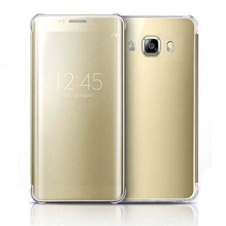 Galaxy J5 2016r etui Flip Clear View złote z klapką.