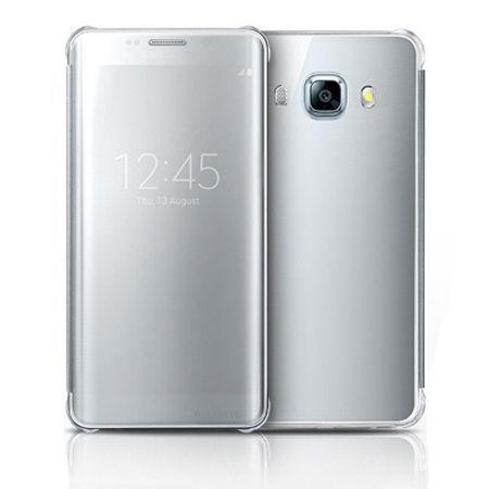 Galaxy J7 2016r etui Flip Clear View srebrne z klapką.