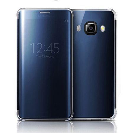 Galaxy J7 2016r etui Flip Clear View granatowe z klapką.