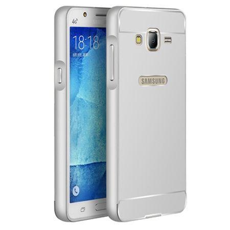 Galaxy J3 2016r etui aluminium bumper case srebrny.