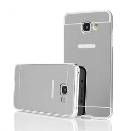 Mirror bumper case na Galaxy A3 2016r -  Srebrny