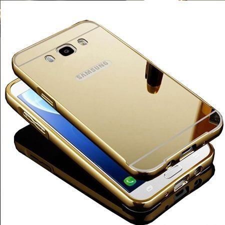 Mirror bumper case na Galaxy J7 2016r  - Złoty