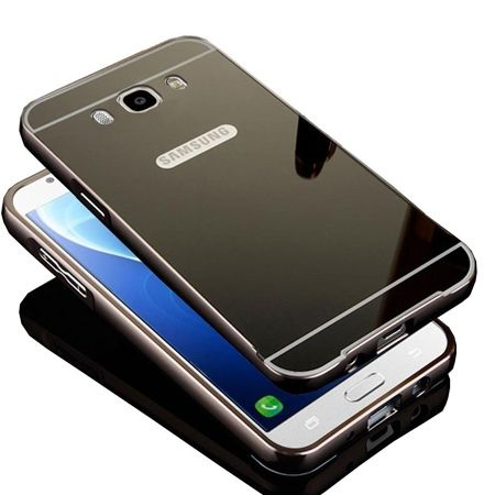 Mirror bumper case na Galaxy J7 2016r  - Grafitowy