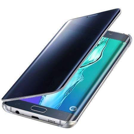 Etui na Galaxy A5 (2016) Flip Clear View z klapką - granatowe.