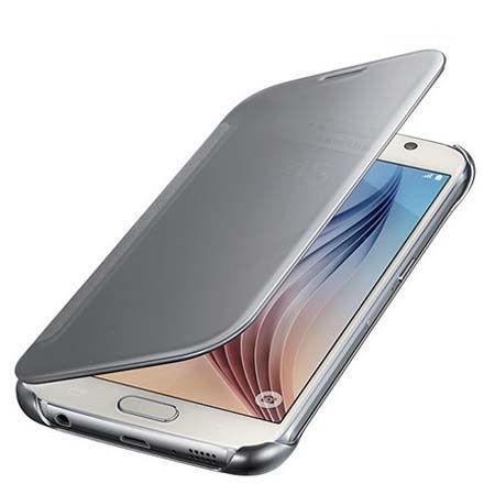Etui na Galaxy A5 (2016) Flip Clear View z klapką - srebrne.