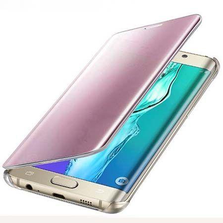 Etui na Galaxy A5 (2016) Flip Clear View z klapką - różowe.