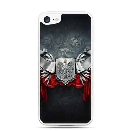 Etui na telefon iPhone 7 patriotyczne - stalowe godło